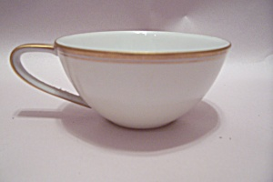 Noritake Gold Trimmed White Fine China Cup
