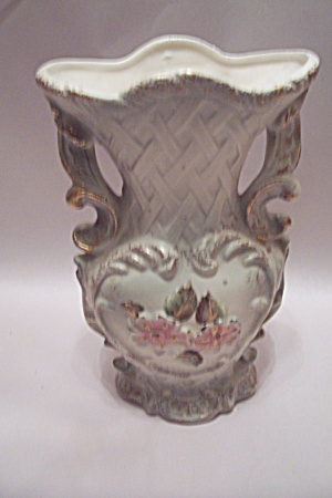 Wales Porcelain Floral Decorated Vase