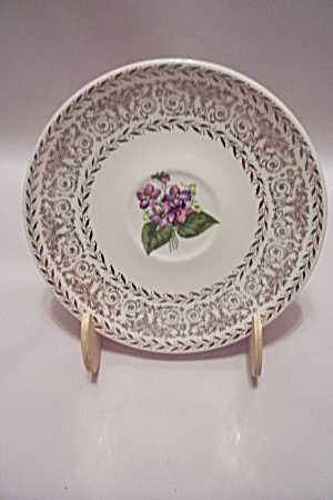 Flower & Gilt Decorated China Bread & Butter Plate