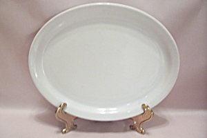 Schmidt White Porcelain China Oval Platter