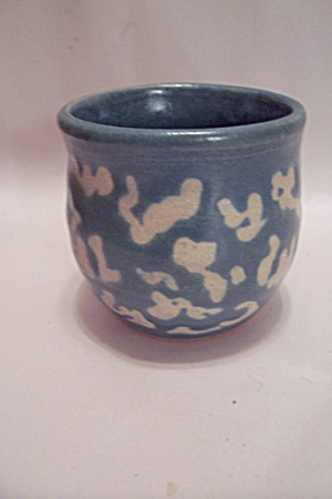 Hand Made Blue Art Pottery Teacup