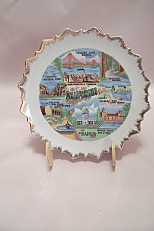 California Souvenir Collector Plate