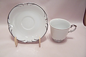 Style House Embassy Pattern China Cup & Saucer Set