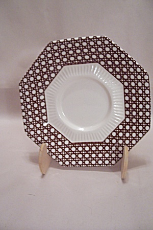 Nikko Classic Collection Brown Cane Border China Saucer