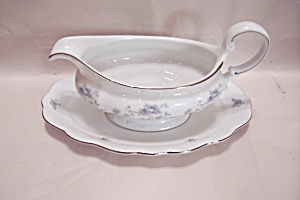 Johann Haviland Blue Garland Pattern China Gravy Boat