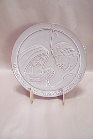 Frankoma Pottery - Good Will Towards Man - Plate