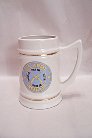 U. S. Army Infantry Porcelain Beer Mug (Image1)
