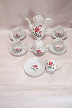 Occupied Japan 12 Piece Tea Set W/musical Teapot