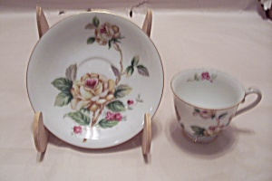 Lynmore Fine China Golden Rose Demitasse Cup & Saucer