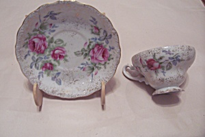 Occupied Japan Dresden Rose Cup & Saucer Set