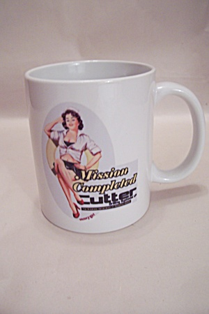 Porcelain Ww-ii Pin Up Decorated Mug
