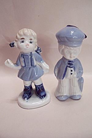 Porcelain Durch Boy & Girl Figurines (Image1)