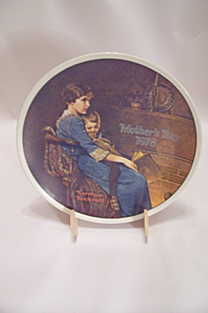 Knowles Norman Rockwell Mother's Day 1978 Plate