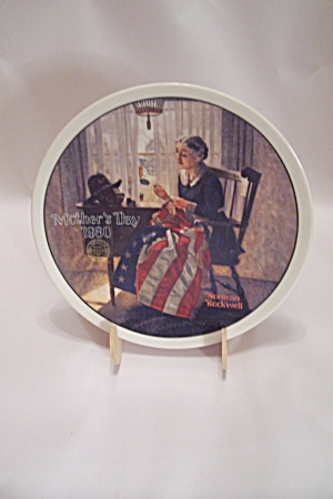 "Knowles Norman Rockwell's Mother""s Day 1980 Plate"
