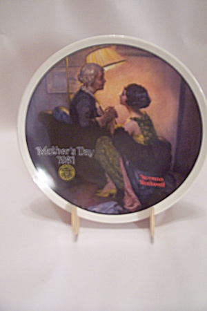 Knowles Norman Rockwell's Mother's Day 1981 Plate