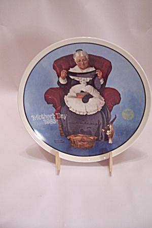 Knowles Norman Rockwell's Mother's Day 1985 Plate