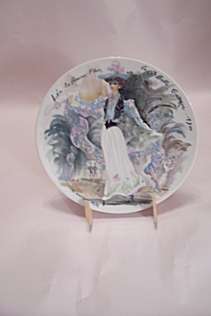 French Limoges Paris Fashion 1900 Collector Plate