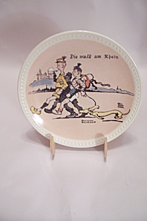 Die Walk Am Rhein Rockwell Collector Plate