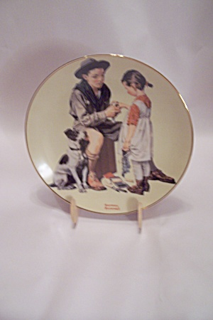 Rockwell's Gentle Moments A Helping Hand Plate