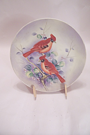 Lefton China Hand Painted Cardinal Collector Plate