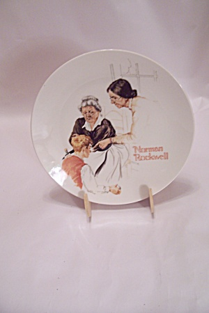 The Broken Window Collector Plate By Norman Rockwell