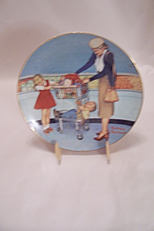 Scotty Goes Shopping Collector Plate By Norman Rockwell