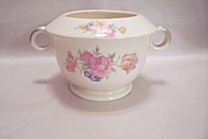 Paden City Rosalee Pattern China Footed Sugar Bowl (Image1)