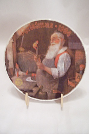 Santa In His Workshop Christmas 1984 Collector Plate