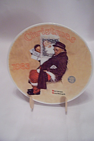 Santa In The Subway Christmas 1983 Collector Plate