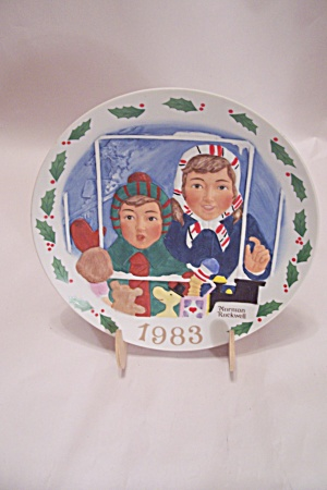 High Hopes By Norman Rockwell Christmas 1983 Plate