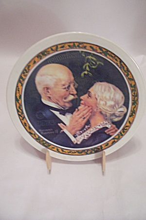 Golden Christmas By Norman Rockwell Collector Plate