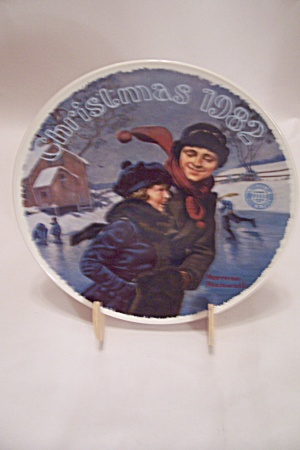 Christmas Courtship By Norman Rockwell 1982 Plate