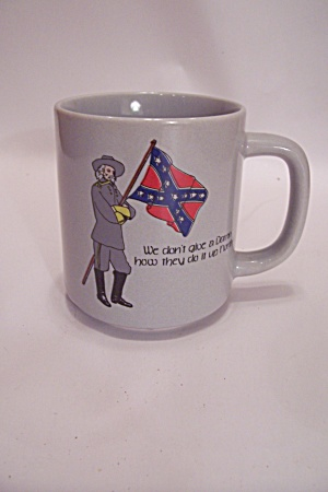 Gray Southern Motif Novelty Collector Coffee Mug