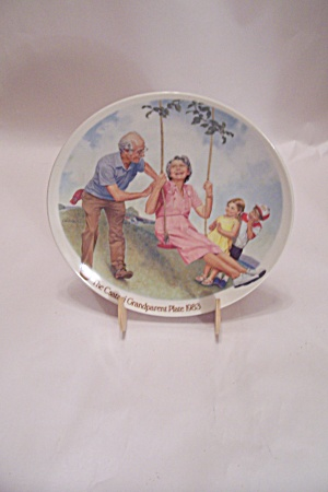 The Swinger By Csatari Grandparent Collector Plate 1983