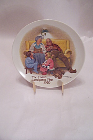 The Bedtime Story By Csatari Grandparent 1980 Plate