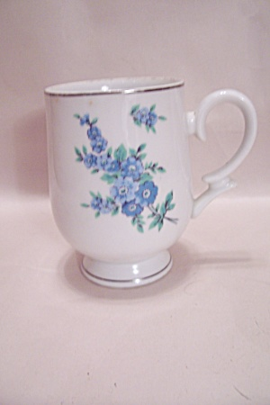 Royalton Blue Flower Pattern Pedestal Mug