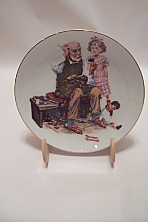 The Cobbler By Norman Rockwell Collector Plate