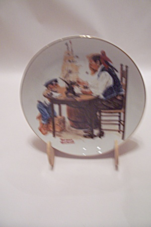 For A Good Boy By Norman Rockwell Collector Plate