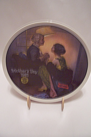After The Party By Norman Rockwell Mother's Day Plate
