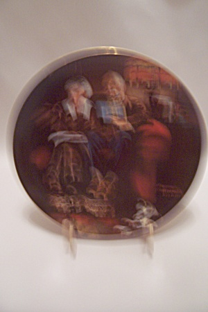 Evening's Ease By Norman Rockwell Collector Plate