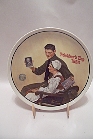My Mother By Norman Rockwell Mother's Day 1988 Plate
