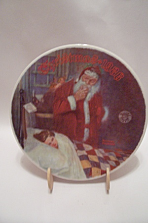 Deer Santy Claus By Norman Rockwell Christmas Plate