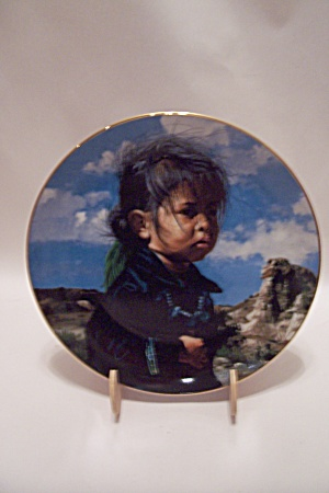 Navajo Little One By Ray Swanson Collector Plate