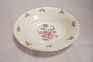 Rose Pattern China Oval Serving Bowl
