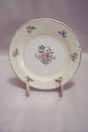 Rose Pattern China Salad Plate