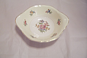 Rose Pattern China Soup Bowl