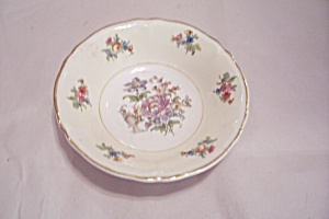 Rose Pattern China Dessert Bowl