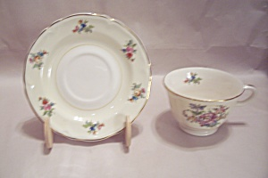 Rose Pattern China Cup & Saucer Set