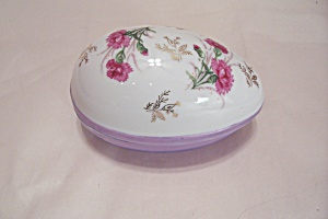 Norleans Porcelain Oval Floral Decorated Cache Box