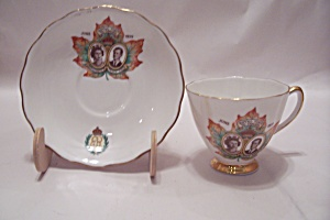 Queen Elizabeth's Royal Visit To Canada Teacup & Saucer